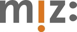 MIZ Logo schwarz - i orange