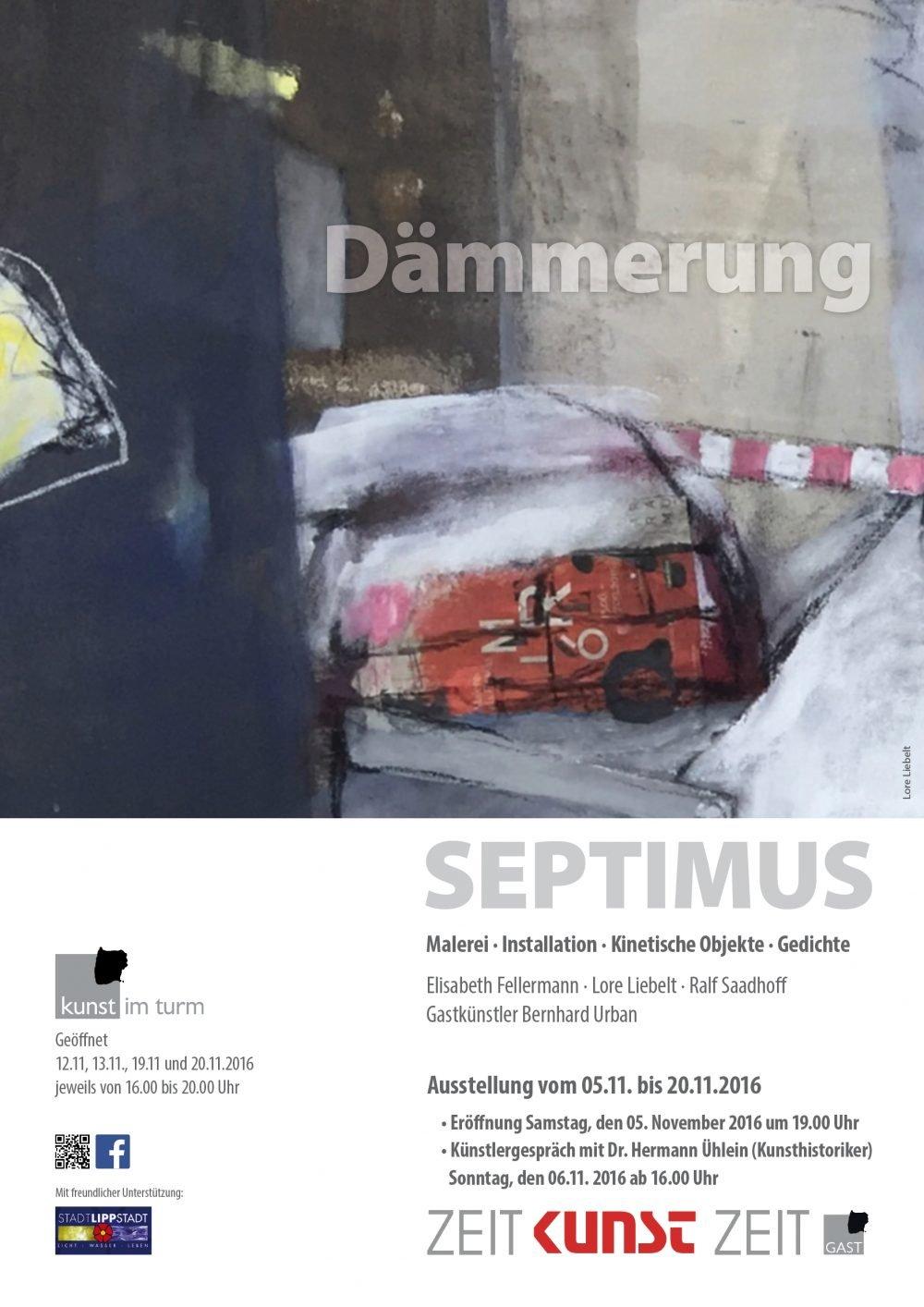 """Kunst im Turm: """"Dämmerung"""" Ausstellungseröffnung am 05.11. 2016 um 19 Uhr"""