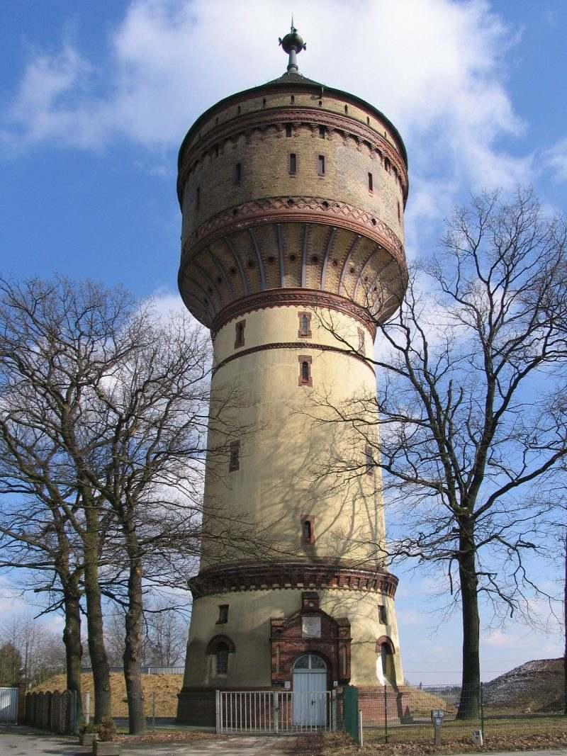 Lichtkunst im Lippstädter Wasserturm