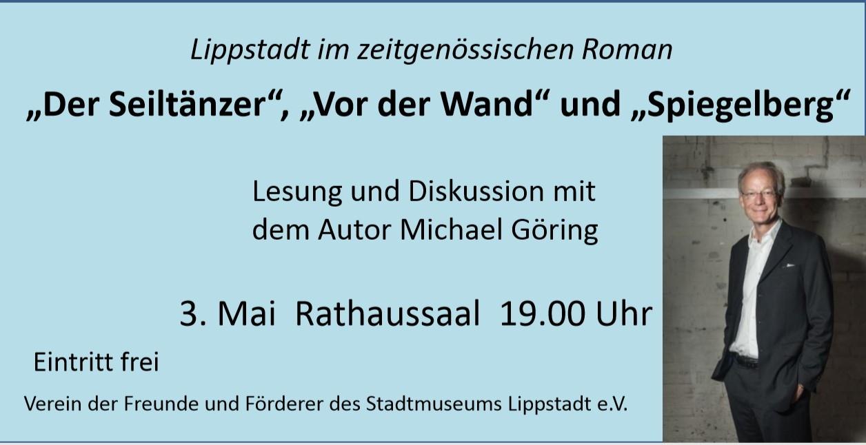 Lippstadt im zeitgenössischen Roman – Lesung mit Michael Göring