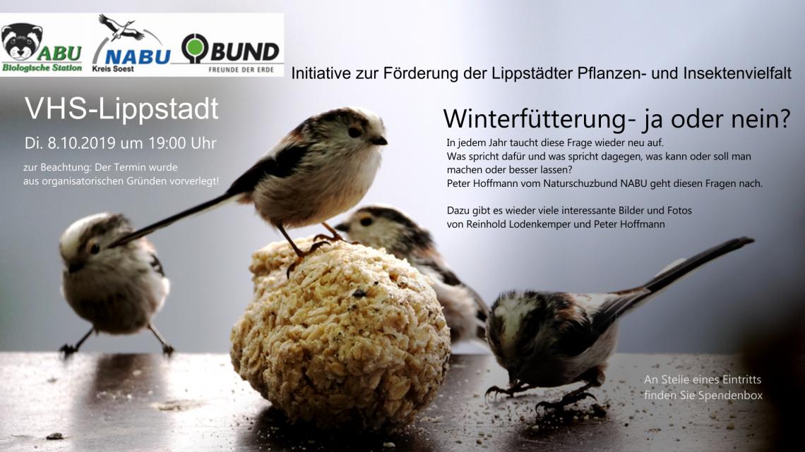VHS-Vogel-Vortrag vorverlegt!!