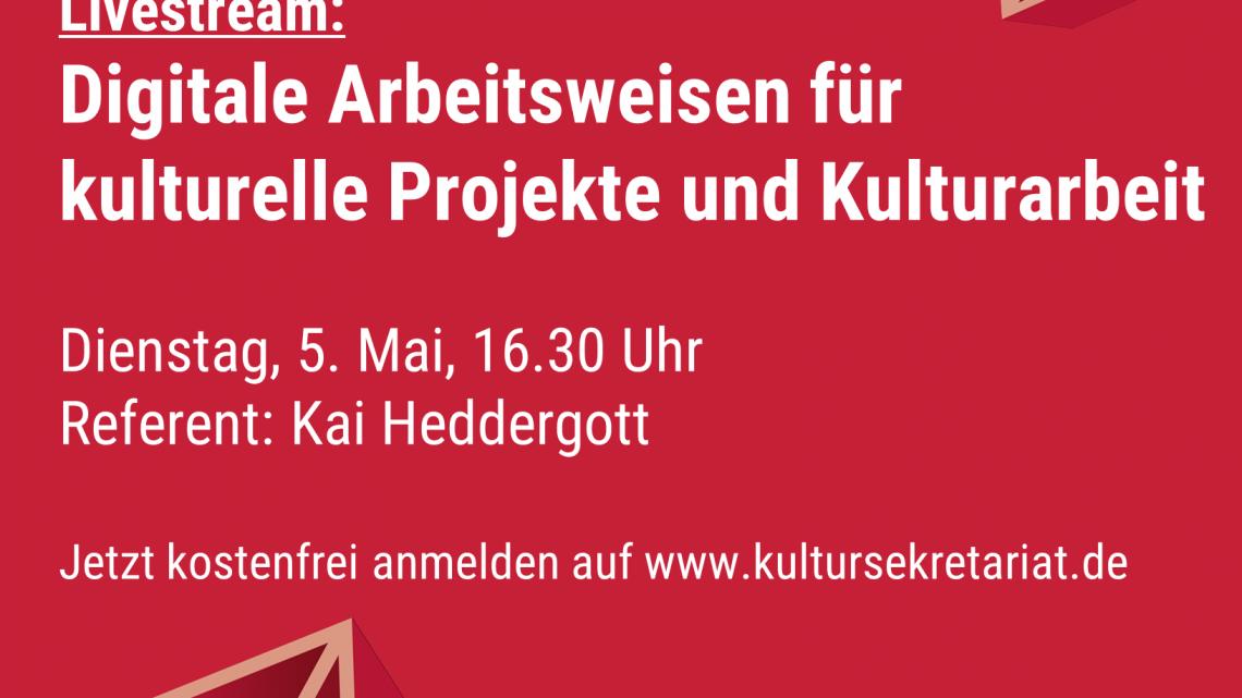 Live-Webinar des Kultursekretariates