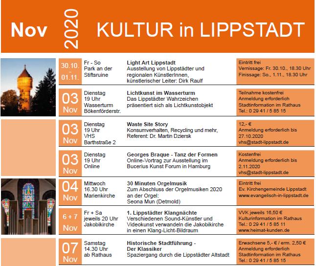 Kulturkalender November 2020