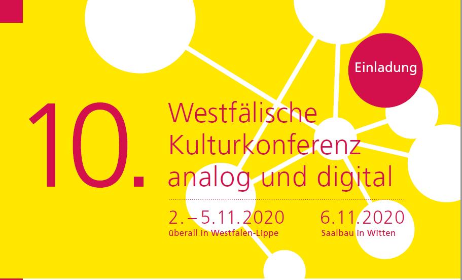 Einladung zur 10. Westfälische Kulturkonferenz