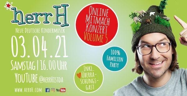 """herrH ist da – Volume 5: Das """"Online-Mitmach-Konzert"""" für die ganze Familie"""